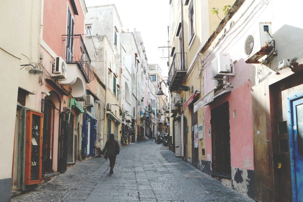 Procida utcák