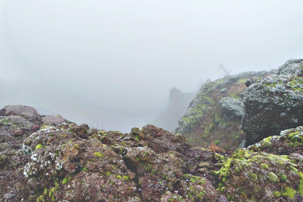 Vezúv ködben