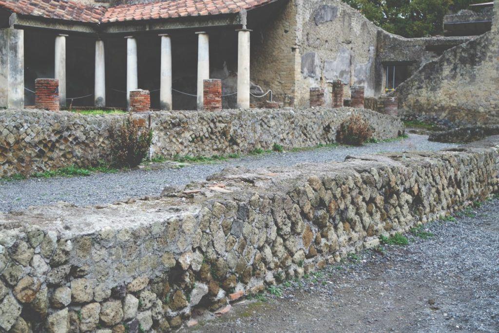 Ercolano ókori épületek