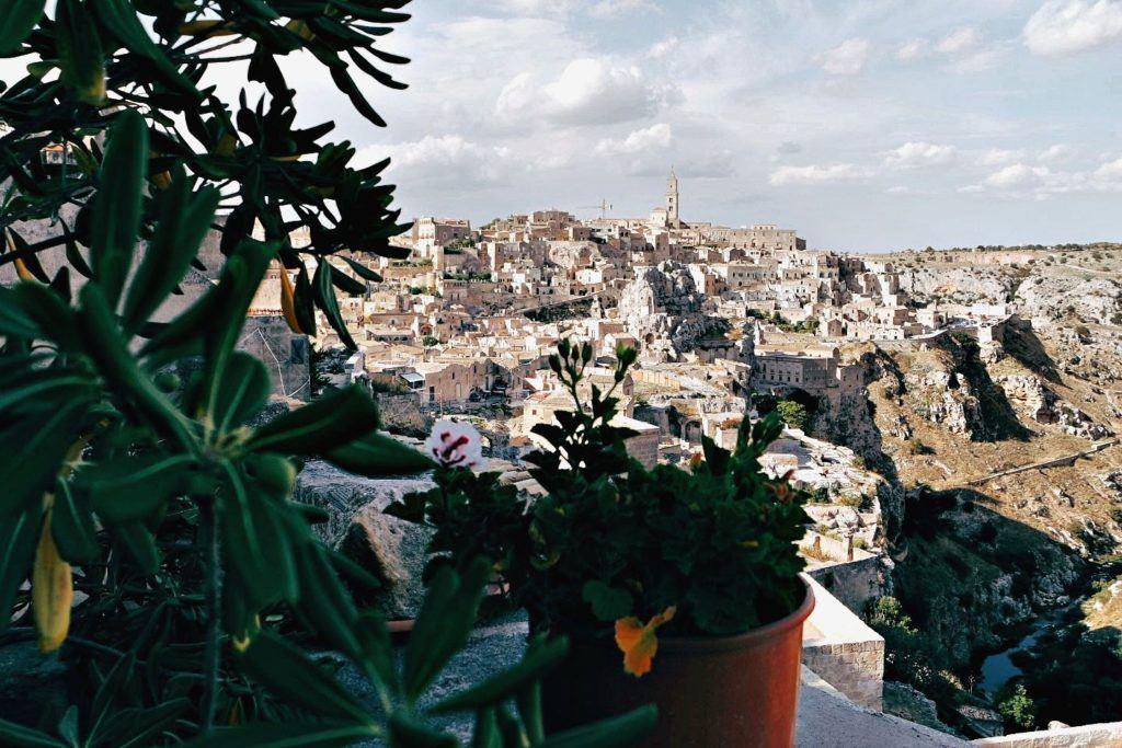 Puglia Matera szállás kilátás