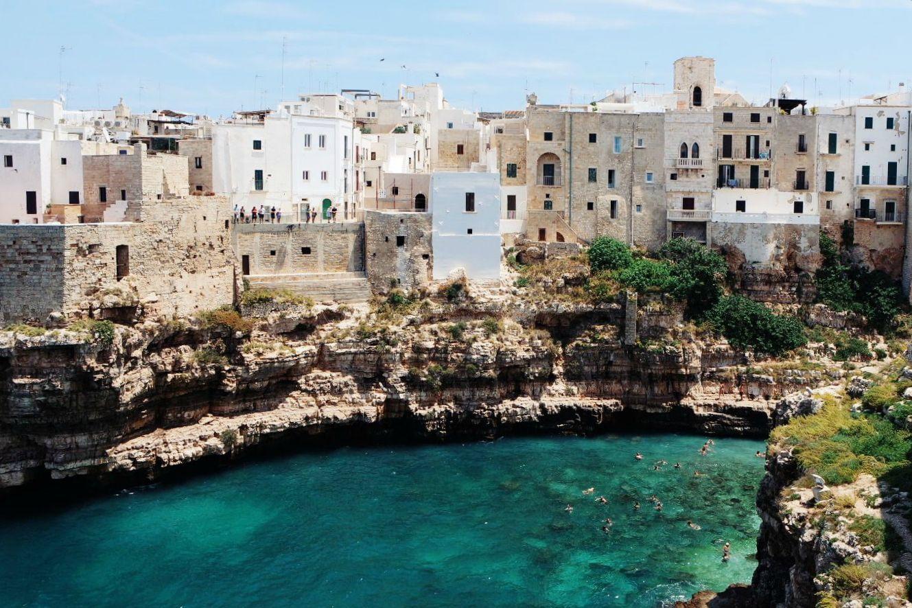Puglia látnivalók Polignano a Mare